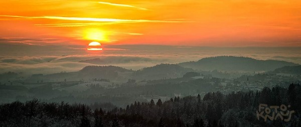 Foto_Knaus_Sonnenuntergang_überm Woid