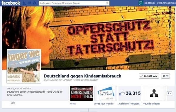 Screenshot_Facebook-Seite_Gegen Kindesmissbrauch