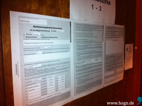 Wahllokal Freyung Abstimmungsbekanntmachung
