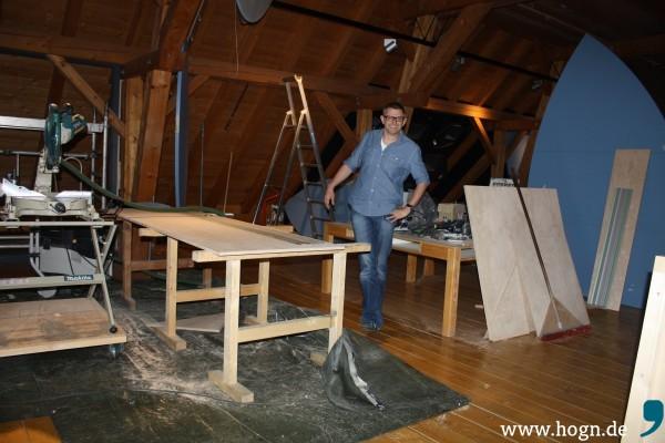 Christian Binder (42) zeigt den dritten Stock des Museums, der noch fertig gestellt wird.