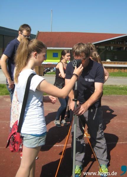 Geodäsie Schüler Vermessung Schule Klasenzimmer