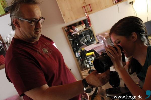 Nikon-Freunde unter sich: Georg und Denise beim Fachsimpeln.
