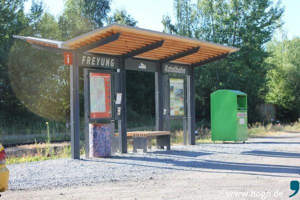 illegale container bahnhof Freyung