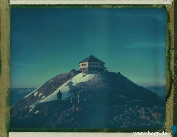 Beim Aufstieg war das Matrashaus schwer erkennbar - beim Abstieg umso besser.