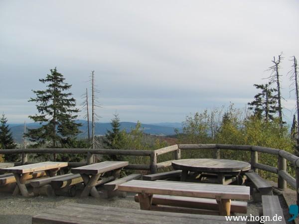 Ausblick von der Terrasse - hier ohne Schnee.