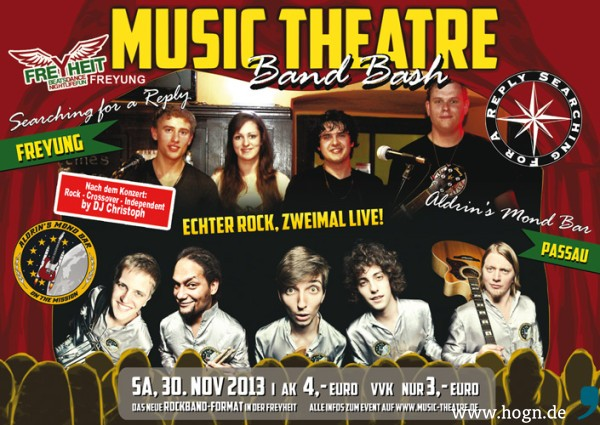 Flyer Music Theatre Band Bash