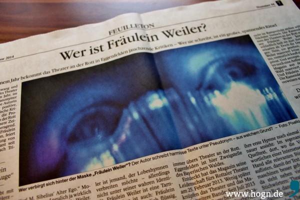 """""""Wer ist Fräulein Weiler?"""" titelte Raimund Meisenberger... Screenshot: da Hog'n"""
