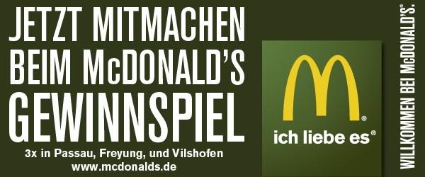 McDonalds Freyung Gewinnspiel 2014