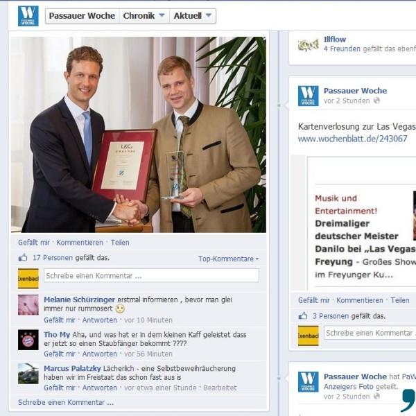 PaWo-Eintrag_Heinrichs Auszeichnung