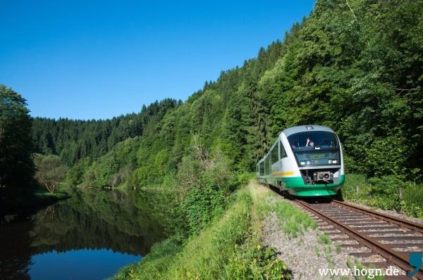 Ein kleines Jubiläum: Seit drei Jahren fährt die Ilztalbahn die idyllische Strecke von Freyung nach Passau.