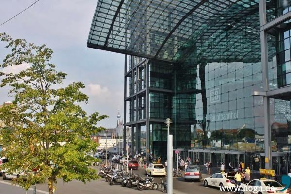 Ankunft am Bahnhof Berlin Gesundbrunnen, 35 Grad - grad schee is...