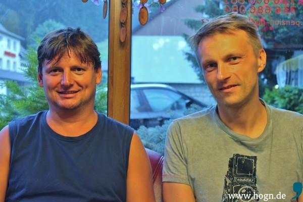 Marek (links) und Rudolf: Bald kommen sie uns in Freyung besuchen.