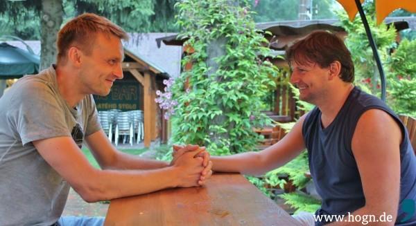 Rudolf Baloun und Marek - zwei Freunde, Ärzte, grenzüberschreitende Denker.