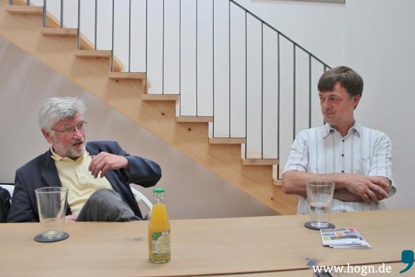 Ihr Herz gehört der Ilztalbahn: Michael Liebl und Thomas Schempf.