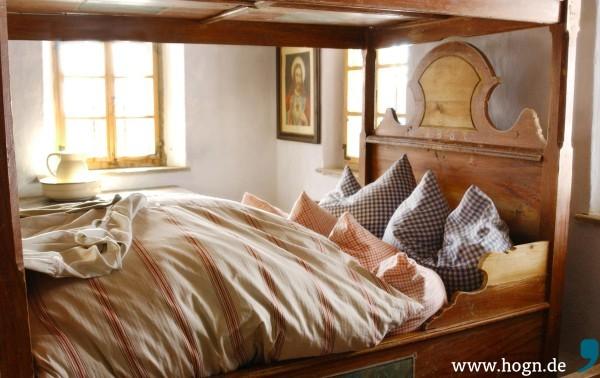 Schlafkammer im Petzihof Austragshaus
