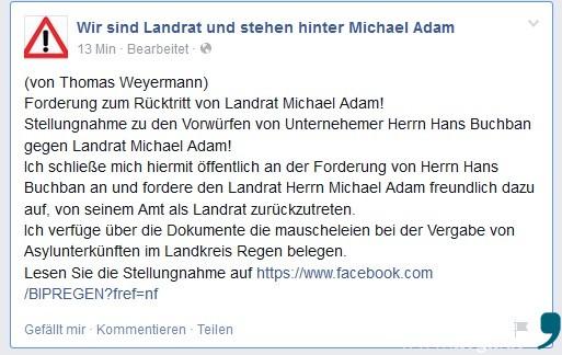 Wir sind Landrat und stehen hinter Michael Adam