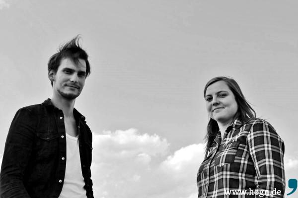Frontmann Daniel Niegl und Drummerin Juliane Ascher machen die Hälfte der Stringers aus.