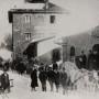 Bahnhof Freyung im Winter (um 1900).