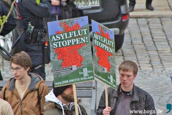 Demo Dritter Weg ViechtachQuelle: Archiv