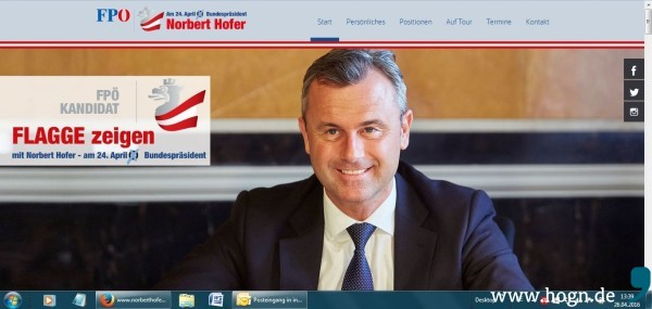 Nobert Hofer_Screenshot