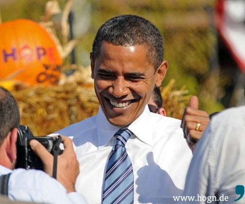 Völlig überaschend setzte sich Obama bei den Vorwahlen 2008 gegen Favoriten Hillary Clinton durch. Foto: Warren Taylor, Wiki Commons