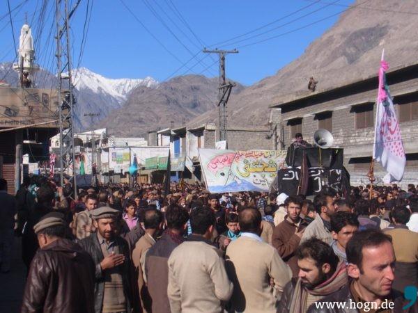 Die meisten Aschura-Besucher in Gilgit trauern leise.